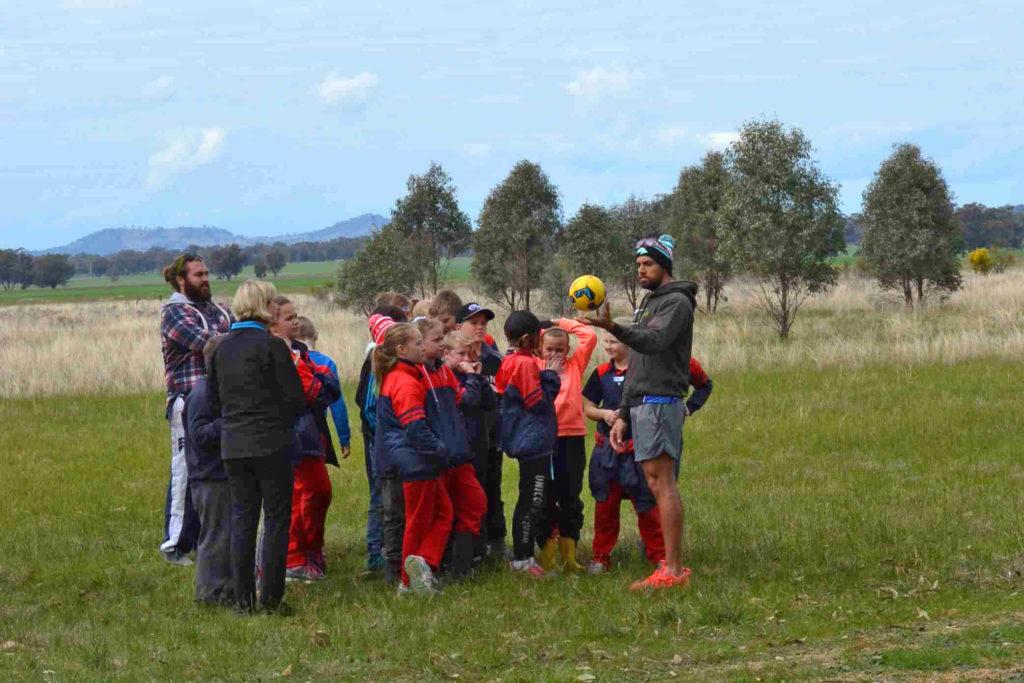 Teaching kids Marngrook